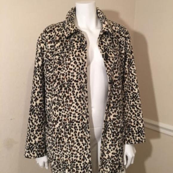 3543df217c7b Karen Kane Jackets & Coats   Petites Faux Leopard Fur Coat Jacket ...